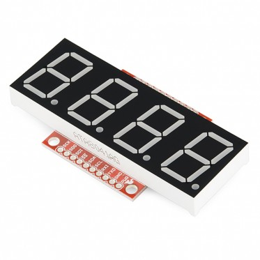 OpenSegment Serial Display - Tall (Yellow)