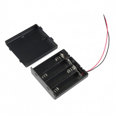 Battery Holder 4xAA with Cover and Switch