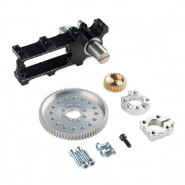 Channel Mount Gearbox Kit - 360 Rotation (3:1 Ratio)