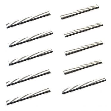 40 Pin Break Away Male Header- Long Straight-10 Pcs