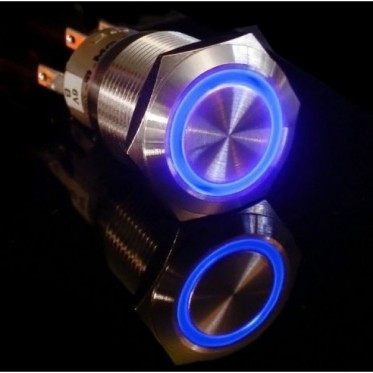 Metal illuminated pushbutton-Blue Ring