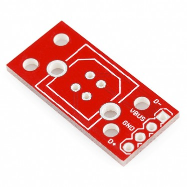 USB Female Type B Vertical Breakout Board