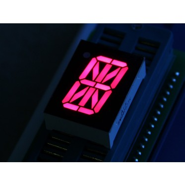 0.8 Inch 16 Segment LED Red - Common Cathode