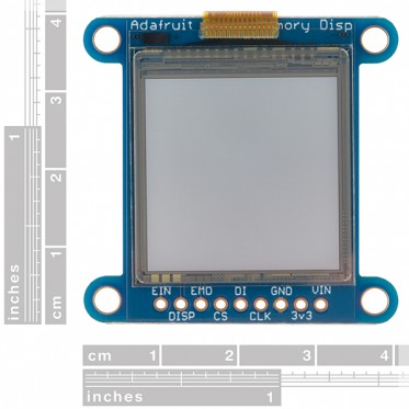 SHARP Memory Display Breakout - Silver Monochrome