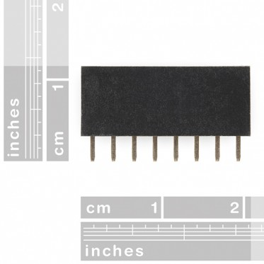 "Header - 8-pin Female (PTH, 0.1"")"