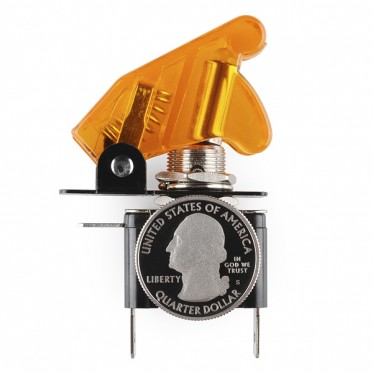 Toggle Switch and Cover - Illuminated (Orange)