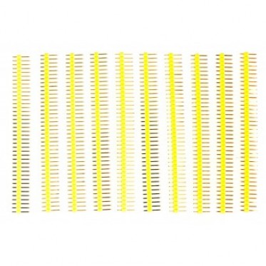 10 Pcs 40 Pin Headers - Straight (Yellow)