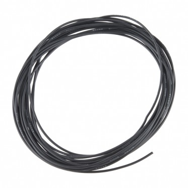 Hook-Up Wire - Silicone 24AWG (Black, 5M)