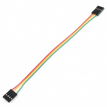 "Jumper Wire - 0.1"", 4-pin, 6"""