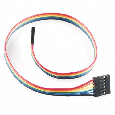"Jumper Wire - 0.1"", 6-pin, 12"""