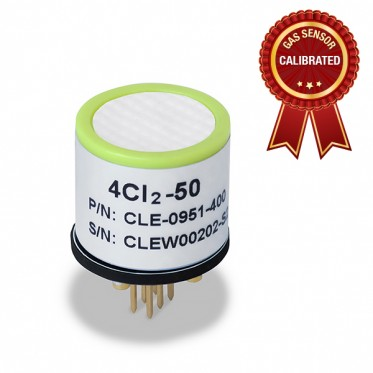 Calibrated Chlorine (Cl2) gas sensor