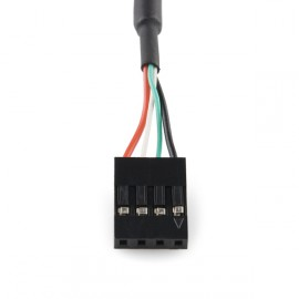 Panel Mount USB to 4-pin Female Header Cable - 6'
