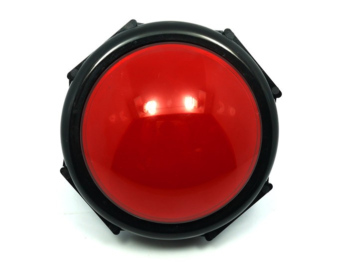 The Never Going To Miss Glaring Devil Eye Huge Red Push Button