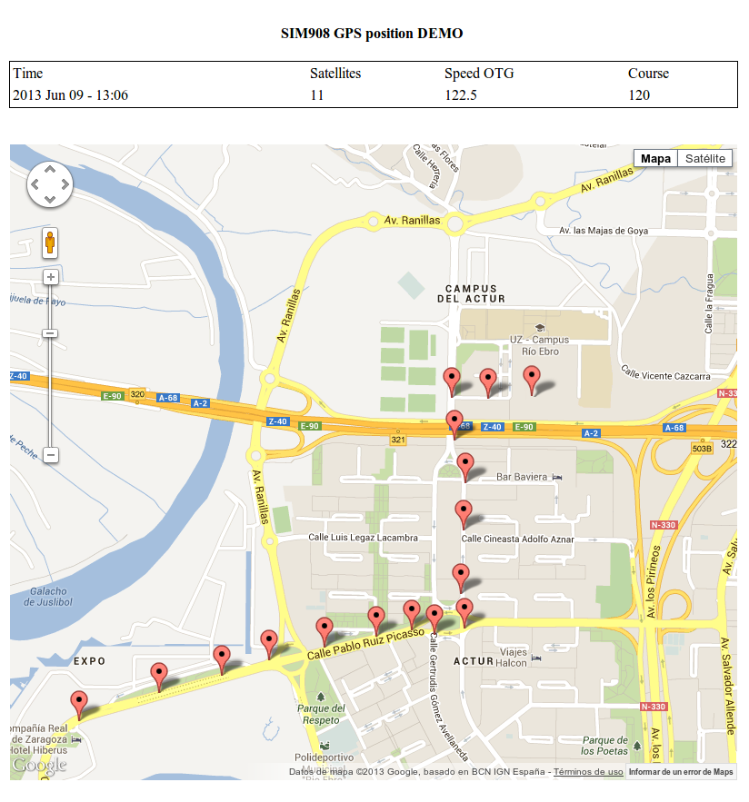Geolocation Tracker (GPRS + GPS) with SIM908 over Arduino and