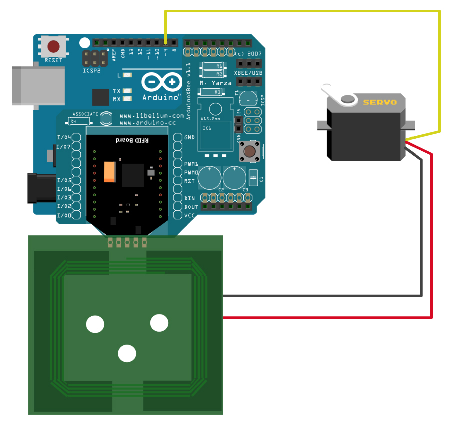 How to Control a Servo with RFID Tag (NFC/RFID 13 56MHz)