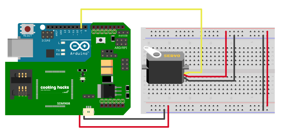 How To Control A Servo With Text Messages Gprs Gps