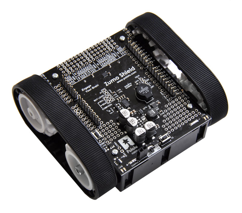 Robot Kit: Build your own Arduino-controllable Tracked Robot