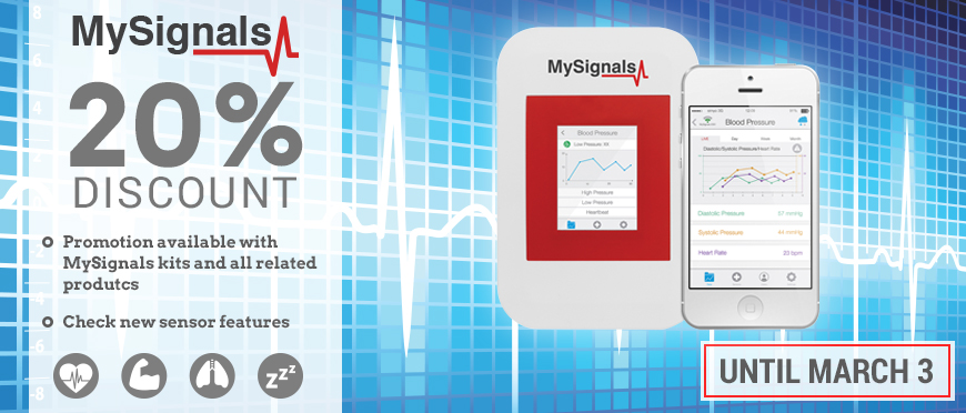 20% off on all MySignals products