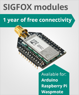 SIGFOX modules for Arduino, Raspberry Pi and Waspmote with one year of free certification